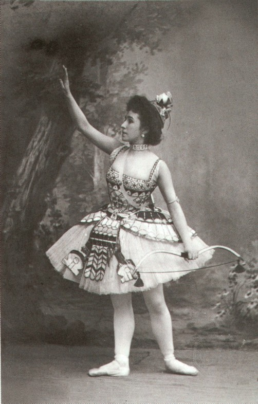 Matilda Kschessinskaya as Princess Aspicia in the Grand Pas des chasseresses (1898)