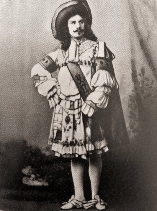 Pavel Gerdt as Prince Désiré (1890)