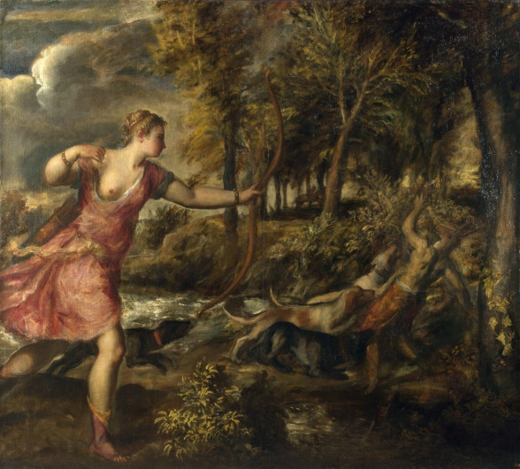 The Death of Actaeon by Titan (1559)