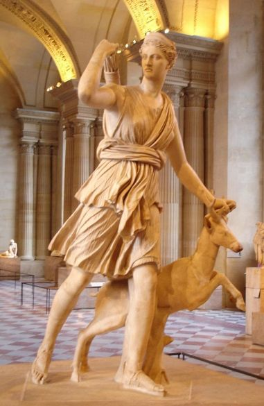 """Diana of Versailles"" - Statue of Diana/Artemis, the Olympian Goddess of the Hunt, Virginity and Childbirth at the Palace of Versailles"
