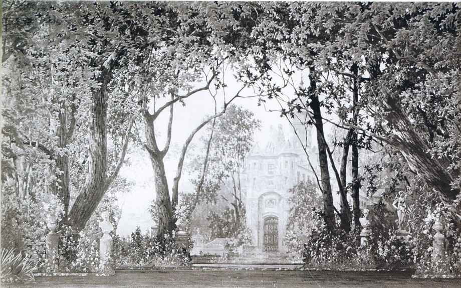 The décor for Act 1, scene 1 of the 1895 restaging (1895)