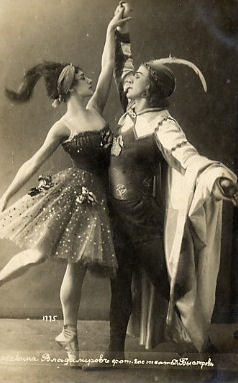 Swan Lake - Tamara Karsavina as Odile and Pierre Vladimirov as Prince Siegfried - 1915
