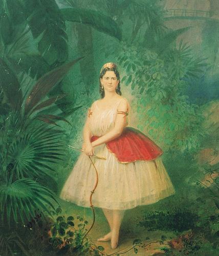 Carolina Rosati as Princess Aspicia (1862)