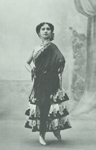 Vera Trefilova as the Street Dancer (ca. 1900)
