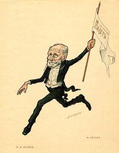 Caricature of Marius Petipa