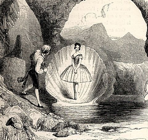 Jules Perrot as Matteo and Fanny Cerrito as Ondine - the Entrance of Ondine (1843)