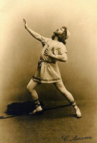 Sergei Legat as Aminta in Sylvia (1902)