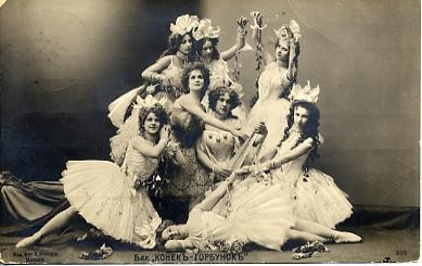 A scene from Petipa's staging of The Tsar Maiden (1895)