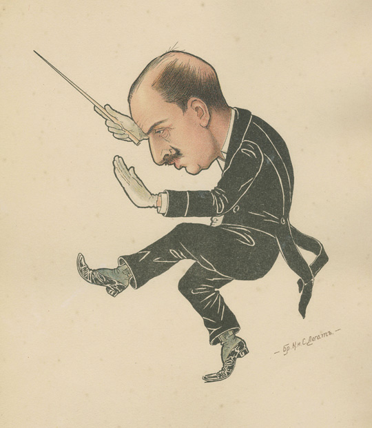 Caricature of Riccardo Drigo