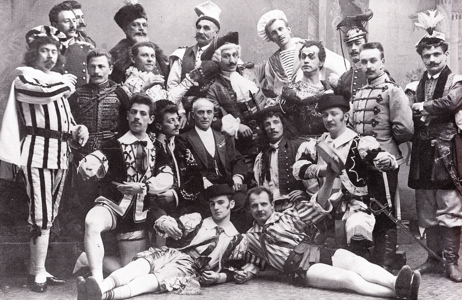 Cecchetti and his male students of the Imperial Ballet (1900)