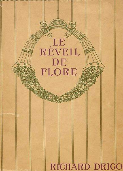Frontispiece for the published piano reduction of The Awakening of Flora