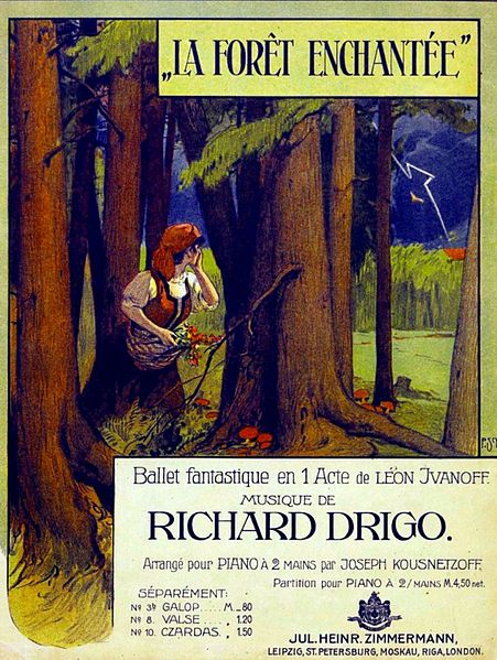 Frontispiece for the piano reduction of The Enchanted Forest