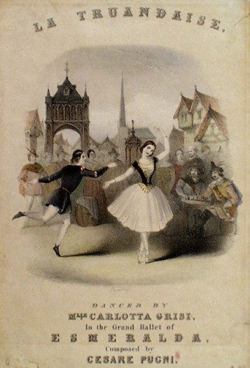 Frontispiece of a published piano reduction of the dance La truandaise from the ballet La Esmeralda (1844)