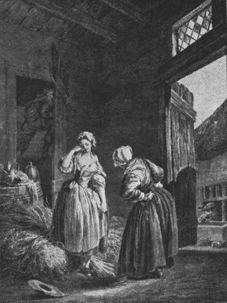 Le reprimande/Une jeune fille querelle par sa mere by Pierre Antonine Baudouin (1789)