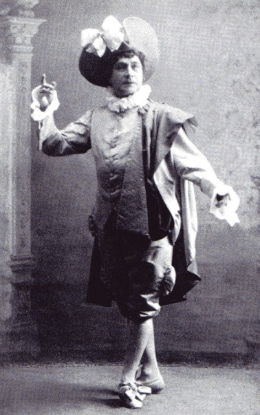 Pavel Gerdt as Damis in Les Ruses d'amour (1900)