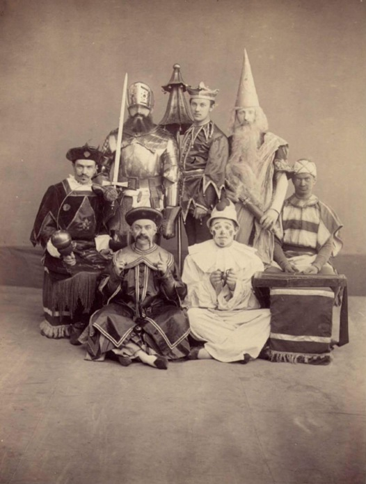 Nikolai Lozhin, Sergei Sosnovsky, Alexei Novatsky, Nikolai Balashov, Dimitri Chernikov, Nikolai Sollianikov and Vladimir Tikhomirov as the Dolls (1894)