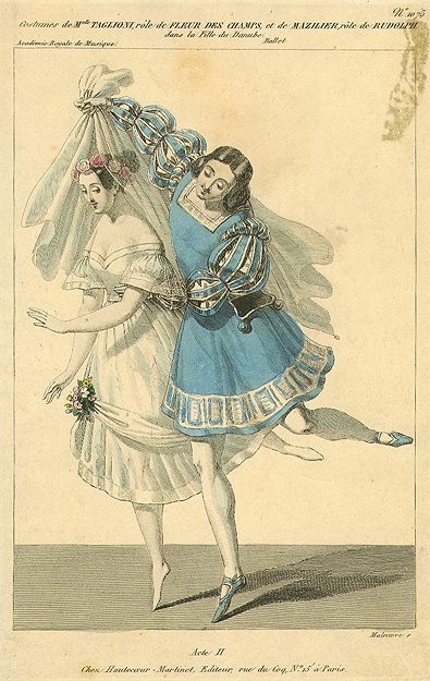 Marie Taglioni as the Daughter of the Danube and Joseph Mazilier as Rudolf (1836)