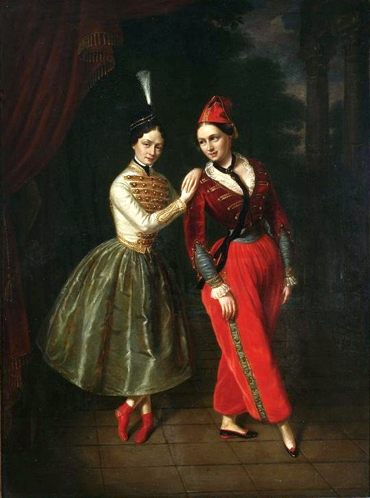 Leila and Asmodée Strauss in Le Diable amoureaux (1853)