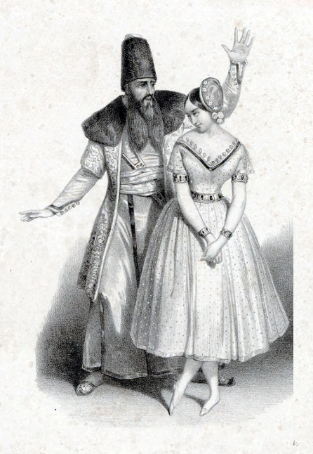 Pauline Leroux as Uriel (ca. 1840)
