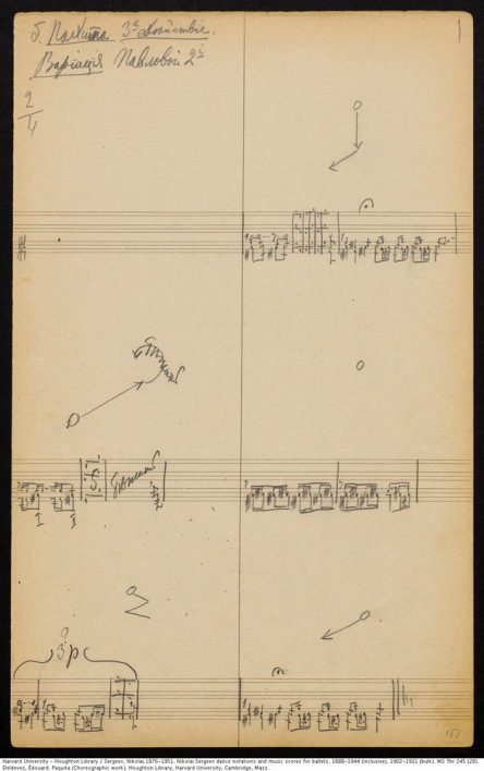 A page of the notation for the Paquita Grand Pas Classique