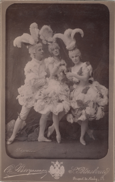 Pavel Gerdt, Vera Zhukova and Varvara Nikitina as Butterflies (1889)