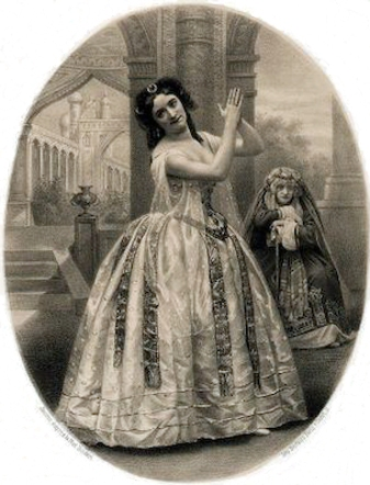 Louise Marquet as Hamza (1860)