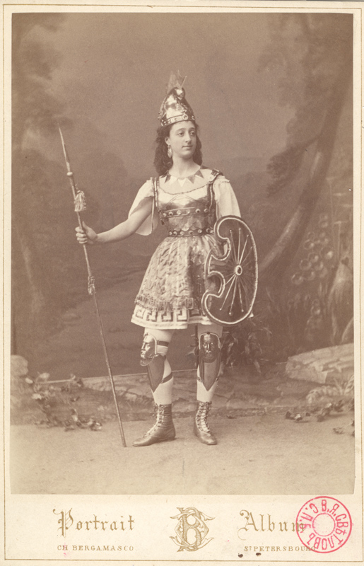 Unidentified ballerina as an Amazon (1891)