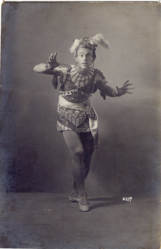 Vaslav Nijinsky as a slave (1908)