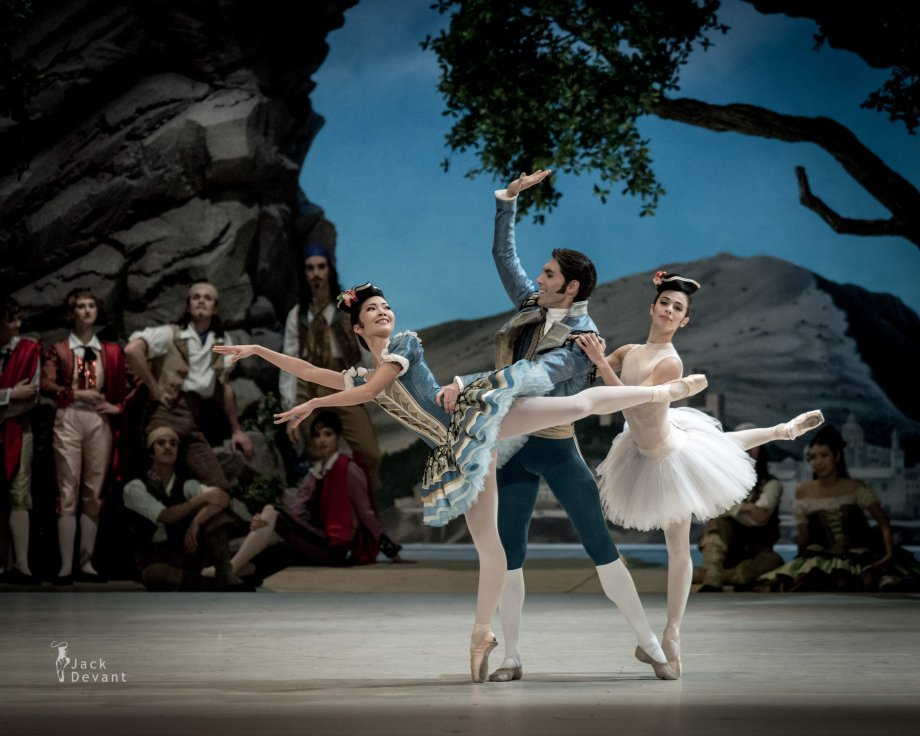 Javier Amo, Mai Kono and Katherina Markovskaya in the Pas de trois (2014), photo by Jack Devant©