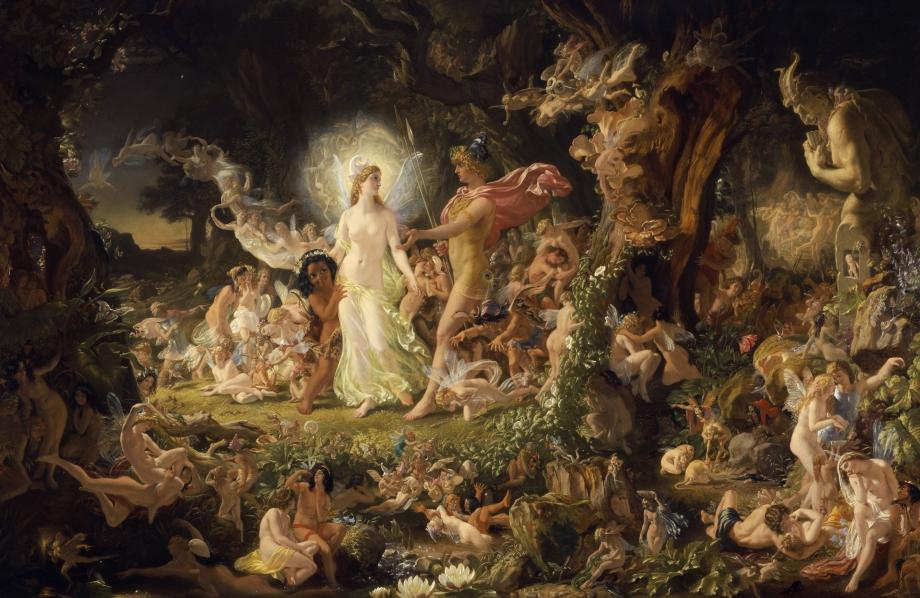 The Quarrel of Oberon and Titania by Sir Joseph Noel Paton (1849)