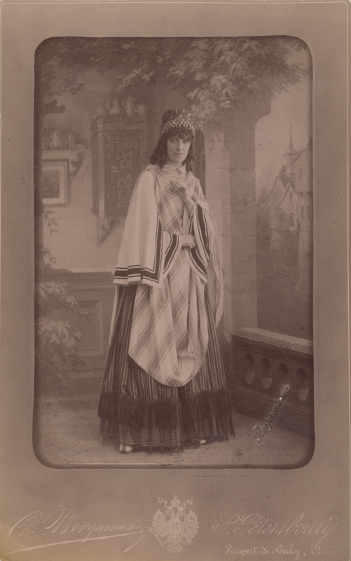 Maria Zest as the Gyspy Woman (1887)