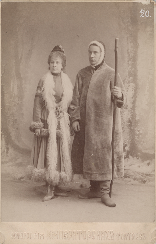Alexandra Semenova and Anton Panteleyev as the Samoyed couple (1895)