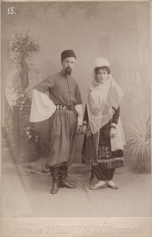 Lydia Svirskaya and Ivan Ponomarev as the Tartar couple (1895)