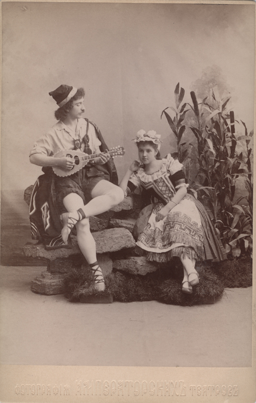 Alexander Shiryaev as Matteo and Natalia Matveyevna as Giannina (1892)