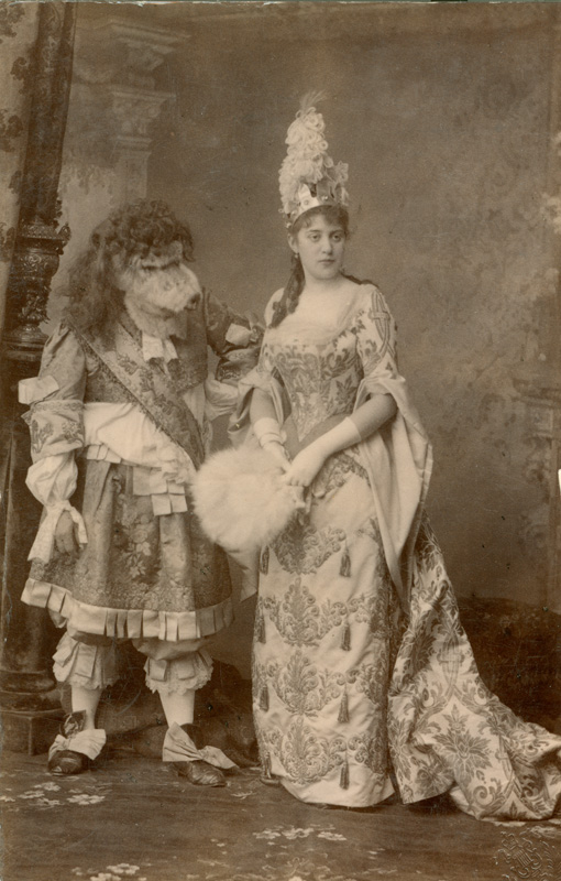 Sofia Zasedateleva and Pyotr Konstantinov as Beauty and the Beast (1890)