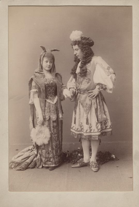 Tatiana Kasatkina as Donkeyskin and Anton Panteleyev as Prince Charmant (1890)