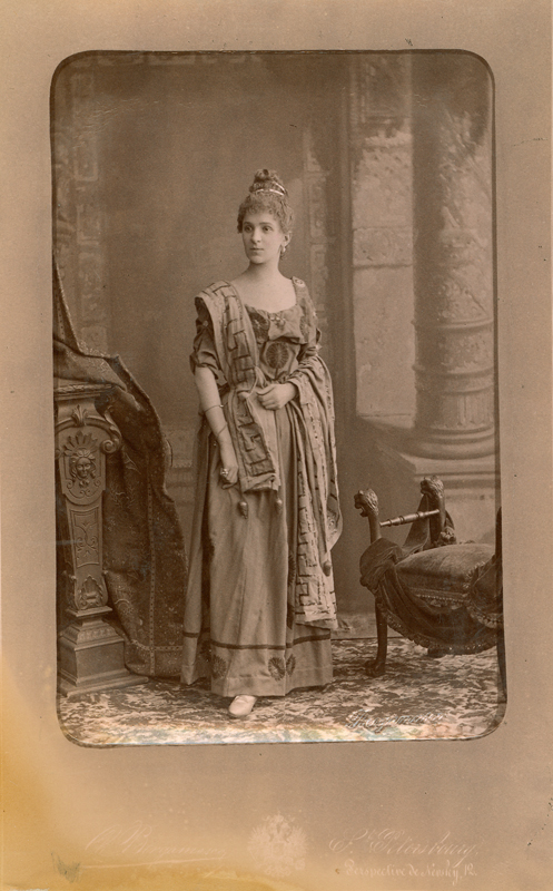 Maria Egorova as a Roman woman (1888)