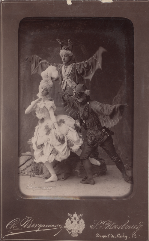 Alexandra Nedremskaya as a Fairy and pupils of the Imperial Ballet School as bats (1889)