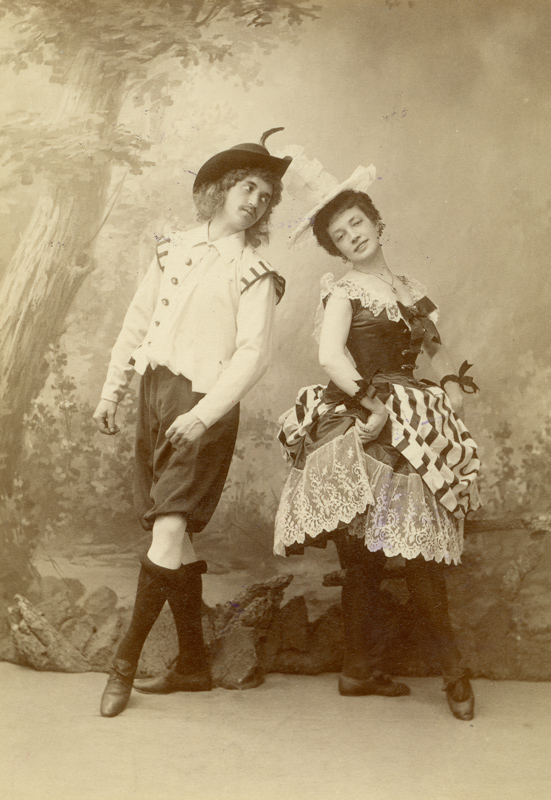 Nikolai Gavlikovsky and Nadezhda Bakerina in the Normadic Dance (1896)