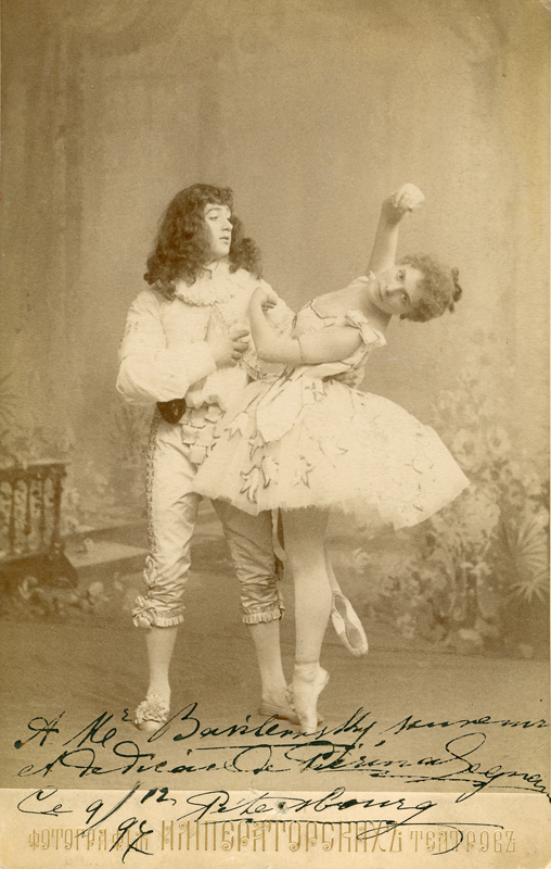Pieirna Legnani as Ysaure and Sergei Legat as Arthur (1896)