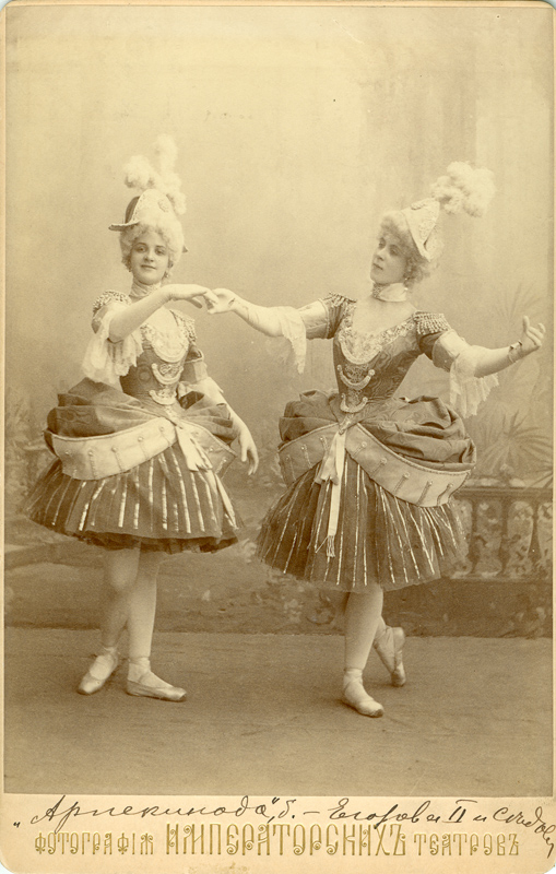 Lyubov Egorova and Julia Sedova as Columbine (1900s)