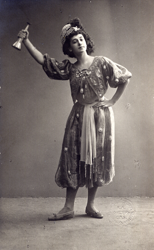 Tamara Karsavina, when a student of the Imperial Ballet School, in the Dance of Le Petite Corsaire (1899)