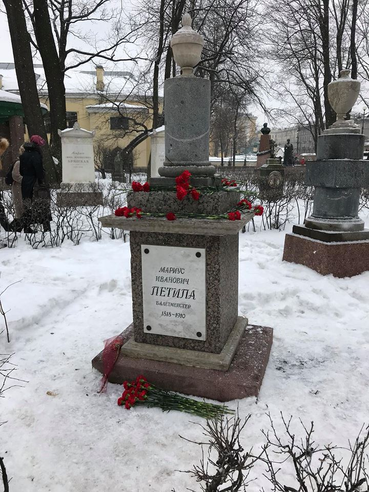 The grave of Marius Petipa in the Alexander Nevsky Monastery, Saint Petersburg (11th March 2018)