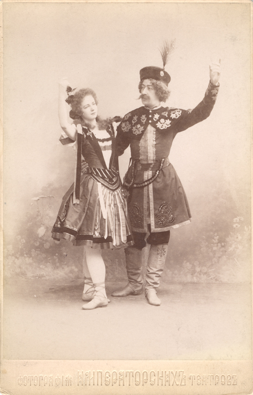 Ekaterina Geltser and Sergei Lukyanov in the Lithuanian Dance (1896)