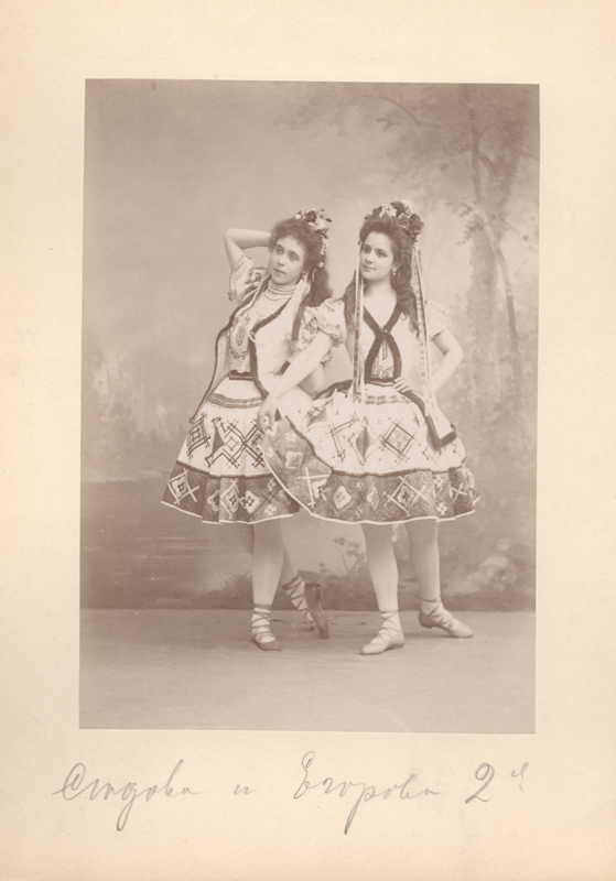 Julia Sedova and Lyubov Egorova in the Czech National Dance (1896)
