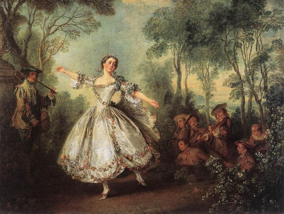 """""""Mademoiselle de Camargo Dancing"""" by Nicolas Lancret (ca. 1780)"""