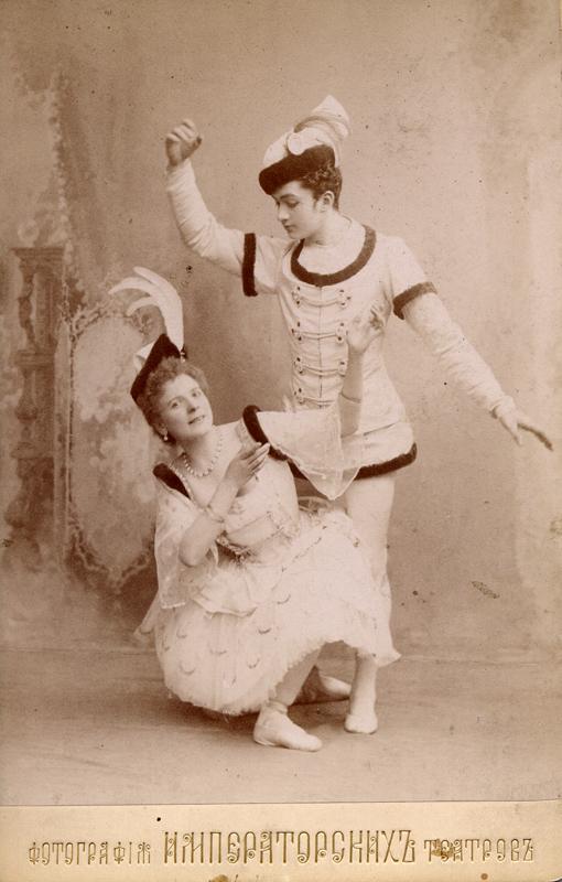 Pieirna Legnani as Raymonda and Sergei Legat as Jean de Brienne (1898)