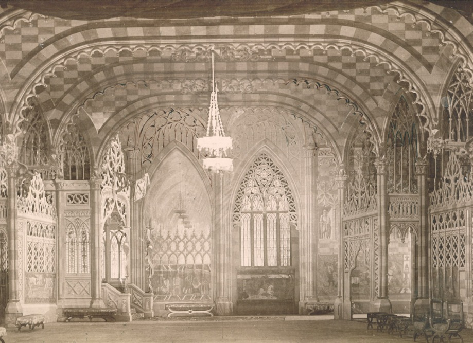 The décor for Act 2 of the 1895 restaging by Heinrich Levogt (1895)