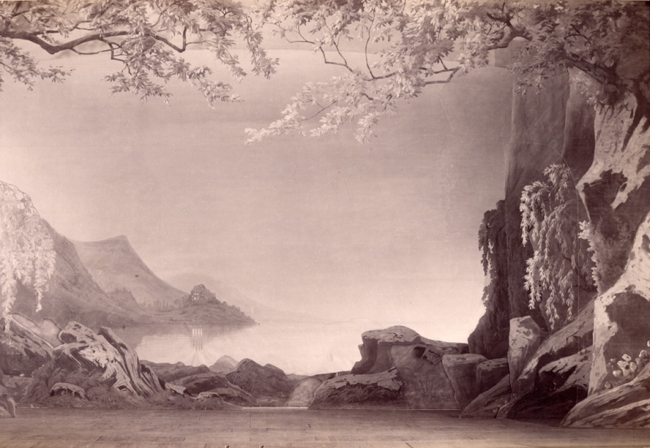 The décor for Act 3 of the 1895 staging (1895)