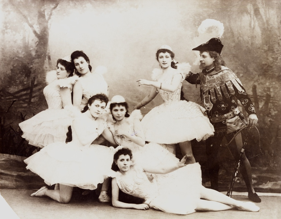 Pavel Gerdt as Prince Siegfried and the Swan Maidens (1895)